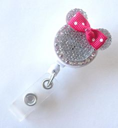 Minnie Mouse Name Badge Reel Retractable by ALittleImpression1, $12.00