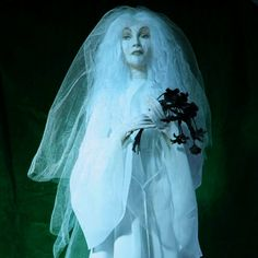 Little Leota The Haunted Mansion's bride ghost by Wormwood Hollow