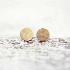 """Runde+Ohrstecker+""""Circle""""+//+Messing+Hammerschlag++von+pikfine+//+Accessoires+auf+DaWanda.com"""