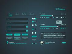 UI Elements PSD kit Freebie