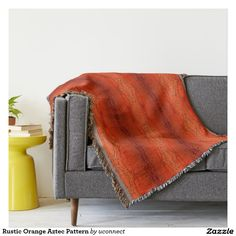 Just in time for Fall! Rustic Orange Aztec Pattern Throw Blanket, designed by Corbin Henry for Uconnect on #Zazzle #falldecor #fallhomedecor #homedecorideas #homedecor #CorbinHenry #throws #throwblankets #cozy #forthehome