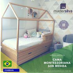 Cama Modelo Montessoriana, Fabricado sob medida.