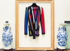 """""""This is my dream jacket—all my favorite colors are there, it's sexy and elegant and I feel incredibly Les Petits Joueurs wearing it."""" http://www.thecoveteur.com/les-petit-joueurs-maria-sole-cecchi/"""