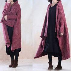 Women Casual Loose Woolen Autumn Coat