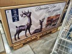 metal reindeer from Costco
