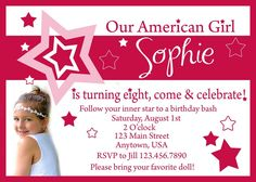 62 Best American Girl Party Images American Girl Birthday