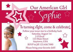 American Girl Birthday Party Invitations Free Printables American