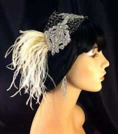 Wedding Headband, Wedding Hair Accessory , Bridal Hair Accessory, Rhinestone Headband, Hollywood Royalty, Champagne