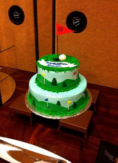 Golf Theme Bar Mitzvah Cake by The Cake Chic, via Flickr
