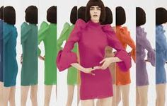 Image result for colorful clothes displayed on colored walls