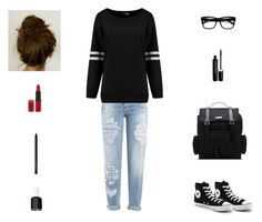 """Contest: Tomboy Outfit"" by billsacred ❤ liked on Polyvore featuring Dsquared2, Retrò, Converse, Dr. Martens, Rimmel, Essie and Marc Jacobs"