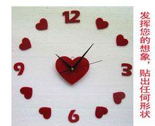Trasporto libero creativo acrilico orologio da parete soggiorno moderno personalità orologio da parete artistica big numbers fai da te decorazione della casa(China (Mainland))