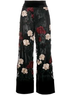 Shop Ganni 'Simmons' floral embroidered trousers in Browns from the world's best independent boutiques at farfetch.com. Shop 400 boutiques at one address.