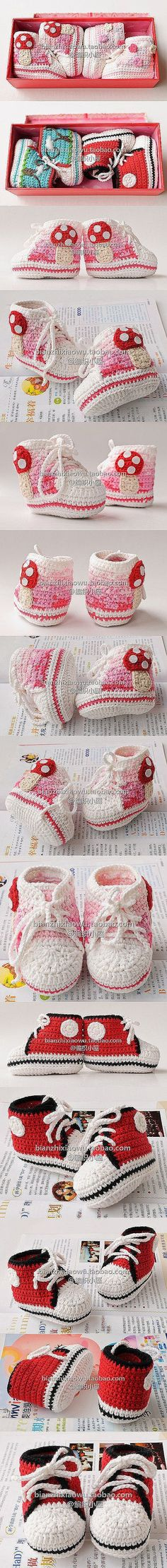 "cute booties inspiration and similar PDF crochet pattern ""free!"" by janice"