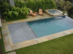 Undermount automatic pool cover - brilliant!