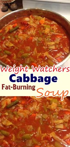 Cabbage Fat-Burning Soup Recipe - one pot recipes - Gesunde Essen Ideen Cabbage Fat Burning Soup, Cabbage Soup Diet, Cabbage Soup Recipes, Weight Watchers Cabbage Soup Recipe, Stuff Cabbage Soup, Soup With Cabbage, Crockpot Cabbage Soup, Shredded Cabbage Recipes, Vegetable Soup Cabbage