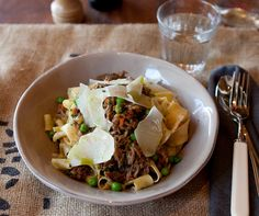 The Grounds at Alexandria - Hand made pappardelle with slow braised lamb and peas
