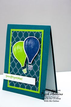 Above the Clouds Stamp Set, Hot Air Balloon Punch, Stampin' Up! Above The Clouds, Card Sketches, Hot Air Balloon, Stampin Up Cards, Fourth Of July, Great Places, Handmade Cards, Spotlight, Card Stock