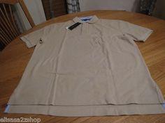 Men's Tommy Hilfiger Polo shirt solid khaki light tan safari 271 knit XL 7831724