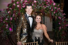 One of the hottest trends in weddings right now is changing into something more glitzy for the reception. These two stole the show when they re-entered dressed for their own party! Wedding Reception Attire, Wedding Day, Spring Wedding Inspiration, Sweet Couple, Wedding Locations, Wedding Trends, Celebrity Weddings, Luxury Wedding, Getting Married