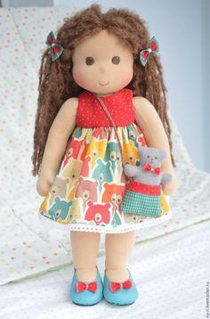 Купить Подружка Мишутки - вальдорфская кукла, вальдорфская кукла купить, вальдорфская кукла цена