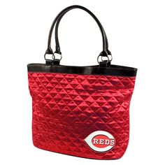 Cincinnati Reds MLB Quilted Tote (Light Red)