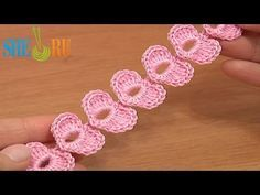 ▶ Crochet Cord Heart Elements Tutorial 62 Crochet Small Hearts - YouTube