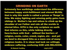 Grinding on earth.