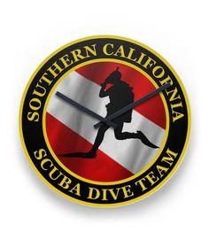 Dive Team Logo Clock