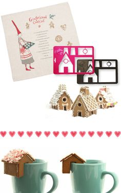 gingerbread house cookie cutter templates--perfect!