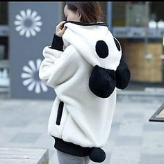Not only is this super warm, but it turns you into a panda <3