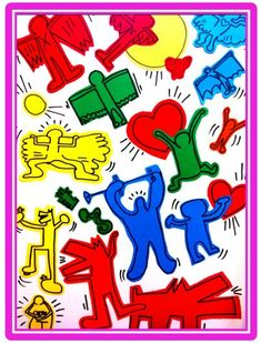 All about Keith Haring.   See also  http://www.haringkids.com/
