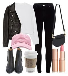 """Untitled #5866"" by laurenmboot ❤ liked on Polyvore featuring River Island, Acne Studios, Jakke, OBEY Clothing and Mulberry"