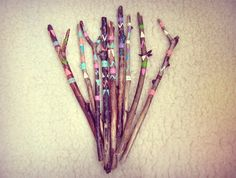 Handpainted Branches Vase Filler  Boho Driftwood by iCatchUrDream