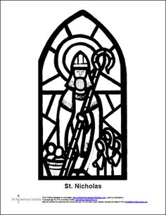 a new stained glass coloring picture httpwwwstnicholascenterorg