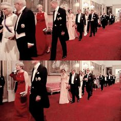 The duchess of cambridge arrives to the state banquet for the king and queen of Spain   ❤️
