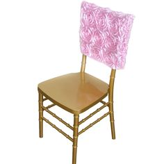 Rosette Satin Chair Cap Slipcover Chivari Square Top Chair Caps For Cat Supplies Folding Chair Covers, Banquet Chair Covers, Pink Wedding Decorations, Banquet Decorations, Party Chairs, Chiavari Chairs, Satin Ribbon Roses, Chair Sashes, Wedding Chairs