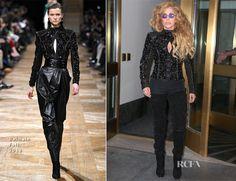 Lady Gaga In Balmain - Out In New York