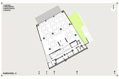 Planta nivel 5. Colegio Santo Domingo Savio. Medellín, Colombia. 2008Obranegra arquitectos Floor Plans, Diagram, School, Log Projects, Architectural Prints, Medellin Colombia, Architects, Atelier, Floor Plan Drawing