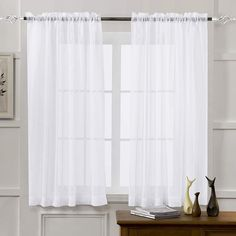 11 Best White Sheer Curtains - CountryCurtains Window Sheers, Sheer Curtain Panels, Sheer Drapes, Panel Curtains, White Lace Curtains, Velvet Curtains, Country Curtains, Living Room Drapes, Short Curtains Bedroom