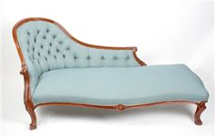 Beautiful Victorian mahogany-stained chaise longue