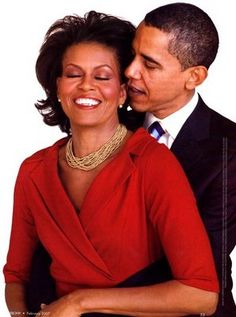 Barack and Michelle. Say what you want, but I love the way that they love each other, and I'd love to experience a love like theirs one day. :]