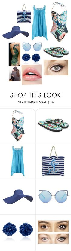 """""""Going to the lake!"""" by shirowland ❤ liked on Polyvore featuring Mara Hoffman, Accessorize, Matthew Williamson, Bibi Marini and Charlotte Tilbury"""