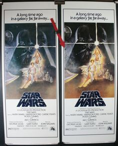 Star Wars Authentication with Nss code on original but not on !980's video release poster which is exactly the same size and otherwise identical.
