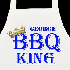 £5.99 Personalised BBQ King Apron from Personalise My Day