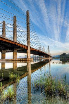 Pitt River Bridge - British Columbia, Canada