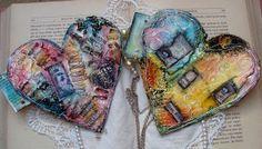 Art Journal inspiration: heart journal