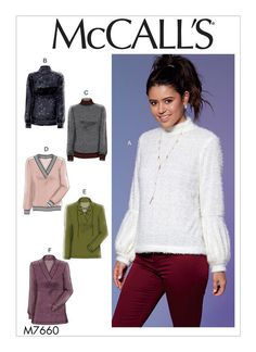 McCall's 7660 Misses' Tops with Neck and Sleeve Variations sewing pattern Fabric Tape, Fabric Scraps, Patron Simplicity, Make Your Own Clothes, Sewing Hacks, Sewing Tips, Sewing Ideas, Leftover Fabric, Mccalls Sewing Patterns