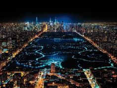 Manhattan in the night