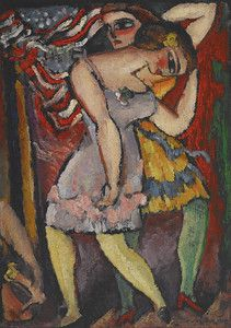 """Burlesque #2 (Vaudeville),"" 1909, Max Weber. Crystal Bridges Museum of American Art, Bentonville, Ark. Featured in April 2013 article, ""Max Weber: Bringing Paris To New York."""